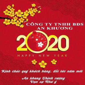 Công ty TNHH Bất động Sản An Khương kính chúc quý khách hàng, đối tác năm mới An khang Thịnh vượng Vạn sự như ý.