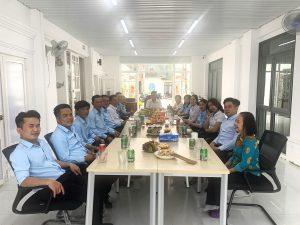 Hình ảnh lễ khai trương năm mới 2021 ngày mùng 6 Tết Tân Sửu tại công ty An Khương